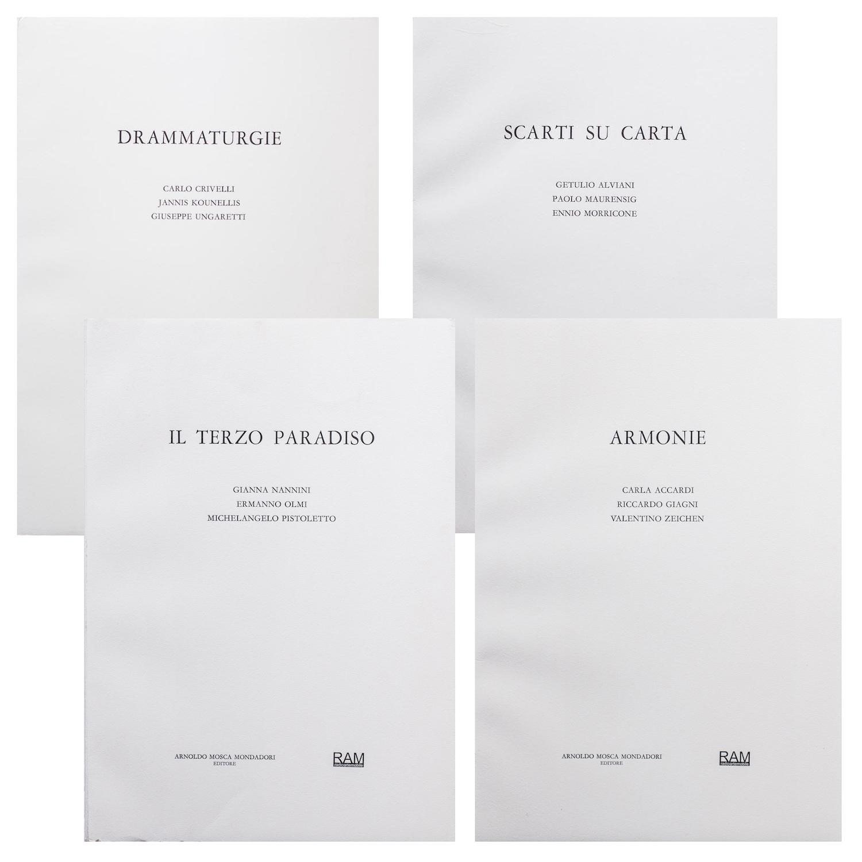 Copertine dei 4 libri d'artista