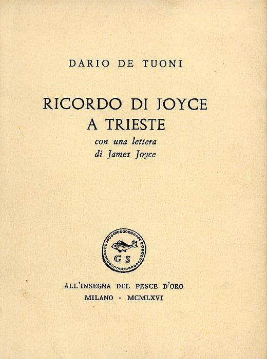 Ricordo di Joyce a Trieste