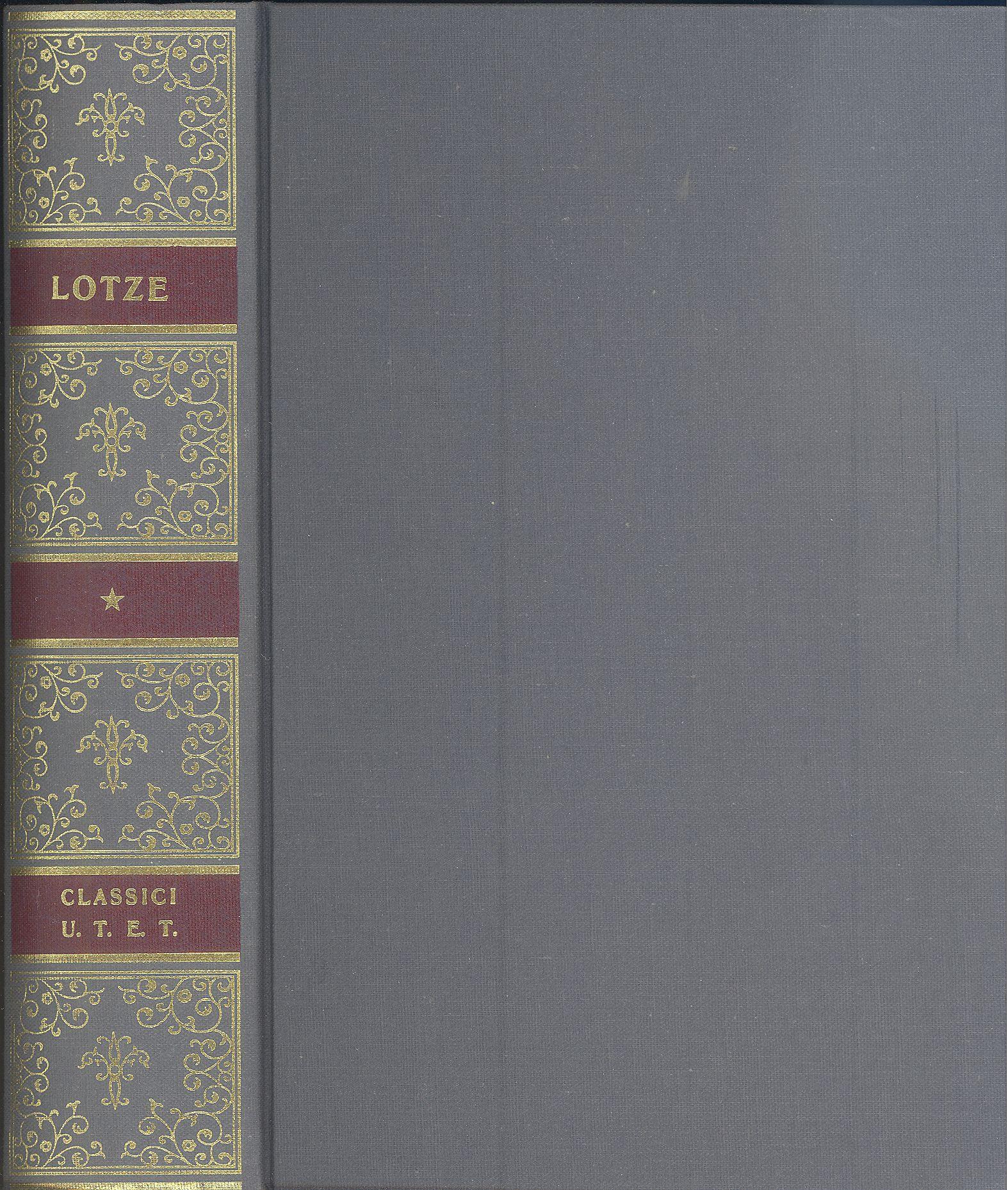 LOTZE-Hermann-Microcosmo-UTET-classici-della-filosofia-1988