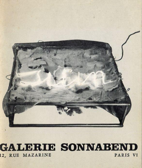 Mario Merz. Galerie Sonnabend Paris, 1969